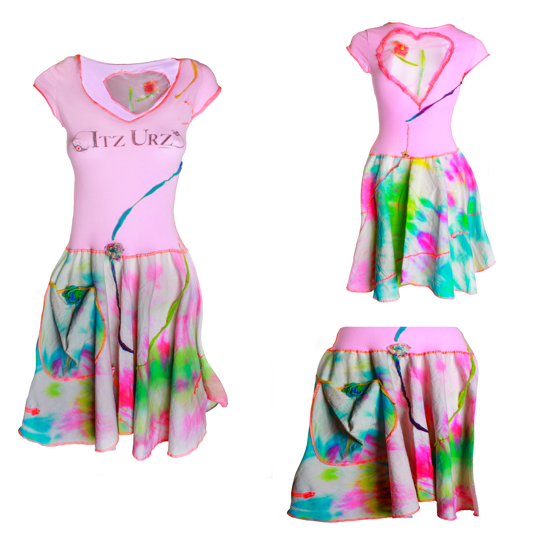 Itz_Urz-T-Dress-Pink-Rainboe